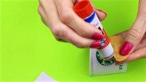 DIY School Supplies - 5 Starbucks DIYs (Liquid Phone Case, Mini Notebook, Slime Pen & Keychain..)