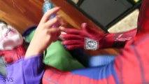 UGLY FROZEN ELSA LOSES HER EARS! w/ Spiderman vs Joker, Anna Pink Spidergirl Maleficent - Superhero