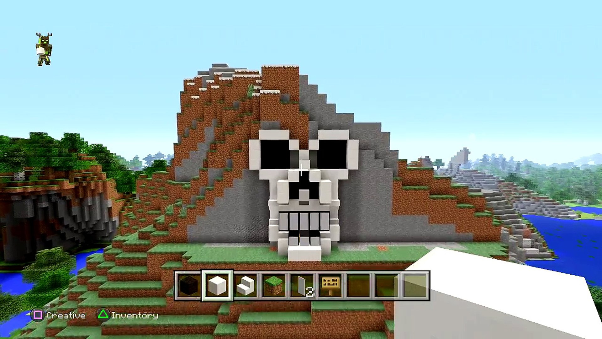 Minecraft Tutorial How To Make A Skeleton House Scary Halloween House Cave House Skull Video Dailymotion