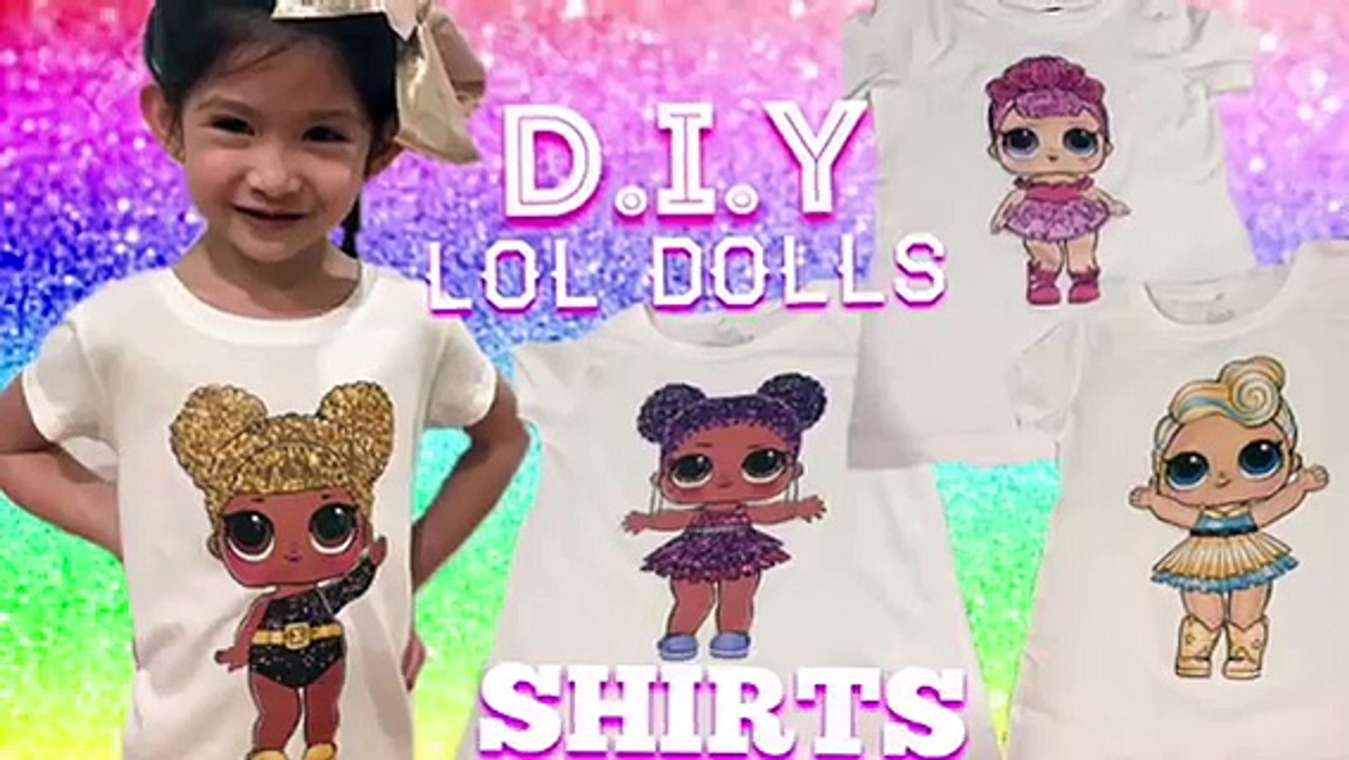 LOL Surprise Dolls DIY t-shirt Iron on Transfer tshirts