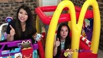 McDonalds Drive Thru Prank Inflatable Giant Ball Pit + McDonalds Indoor Playground Power Wheels