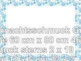 Weihnachtsschmuck Größe 60 cm x 80 cm 46 Stück sterns 2 x 10 cm 12 x 5 cm 32 x 25 cm