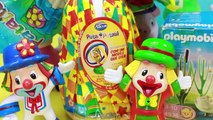 Ovos de Páscoa Patati Patatá brinquedos surpresas Playmobil bonecos 2017