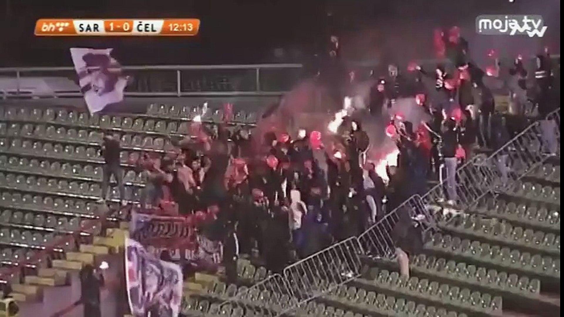 FK Sarajevo - NK Čelik / Robijaši navijanje