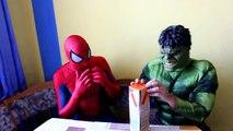 Fat Spiderman Prank Movie Frozen Elsa Hulk Superhero in Real Life Movies