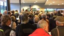 Une centaine de personnes au rassemblement de soutien à la Catalogne