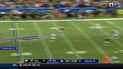 Buffalo Bills wide receiver Andre Holmes beats the coverage, drags his feet to nab first down