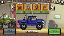 Hill Climb Racing 2 New Vehicle SUPER DIESEL Fully Upgraded