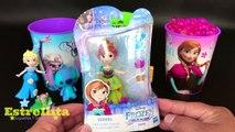 FROZEN ELSA ANNA OLAF Vasos Sorpresa con Orbeez juguetes, huevos y Bolsitas Sorpresas En Español