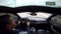 Un homme en BMW s'amuse à slalomer entre les voitures et se crash violemment