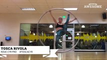 First Time Trying Roue Cyr Wheel _ Awesome Academy