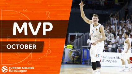 Turkish Airlines EuroLeague MVP for October: Luka Doncic, Real Madrid