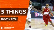 Turkish Airlines EuroLeague, Regular Season Round 5: 5 Things to Know