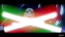 LEGO Darth Vader & Luke Skywalker Vs Darth Sidious BOSS Fight Battle (Star Wars The Force Awakens)