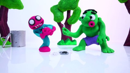 HULK HURTS SPIDERMAN Steps on Broken Glass _ Superheroes in Real Life Stop Motion Videos