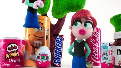 TROUBLE Superhero Babies Elsa Disney Frozen and Hulk Clay Play Doh Stop Motion Videos