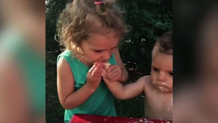 Girls Steals Her Brothers Birthday Moment