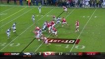 Denver Broncos linebacker Shaquil Barrett flies past Eric Fisher, strips-sacks Kansas City Chiefs quarterback Alex Smith