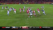 Denver Broncos wide receiver Isaiah McKenzie muffs punt, Kansas City Chiefs wide receiver De'Anthony Thomas recovers for Chiefs in red zone
