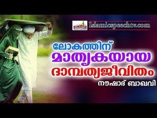 ലോകത്തിന് മാതൃകയായ ദാമ്പത്യജീവിതം || Islamic Speech In Malayalam | noushad baqavi 2017 new speech