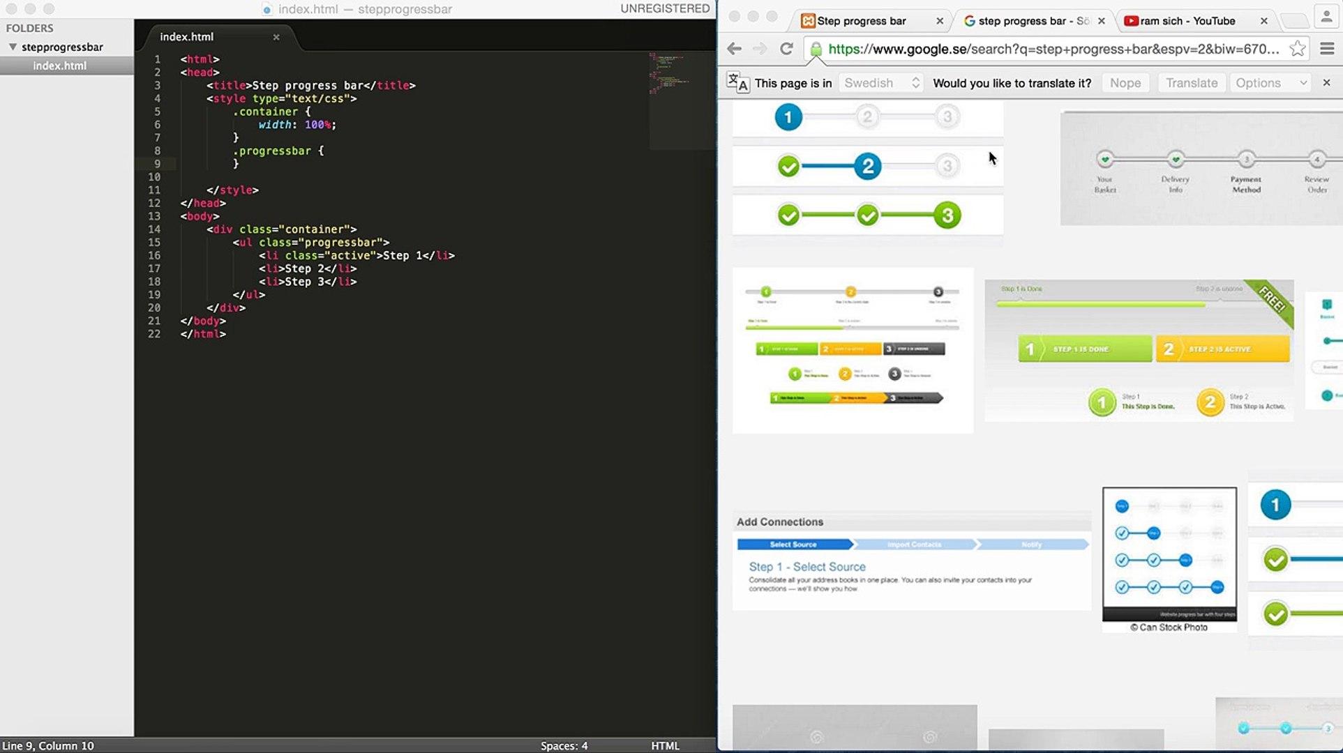 Step progress bar Tutorial, CSS