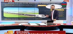 Türk aparıcı Bakı-Tbilisi-Qars dəmir yolu xəttindən danışarkən Avropanı lağa qoydu