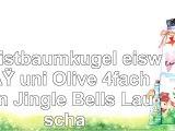 Christbaumkugel eisweiß uni Olive 4fach von Jingle Bells Lauscha