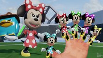 Colors Minnie Mouse Finger Family Compilation | Nursery Rhyme Playlist with 3D Custom Minnie Kid Fun