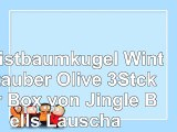 Christbaumkugel Winterzauber Olive 3Stckper Box von Jingle Bells Lauscha