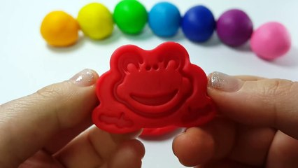 Baby Milk Bottles & Frog Learn Colors Play Doh Modelling Clay Molds Finger Family Nursery Rhymes