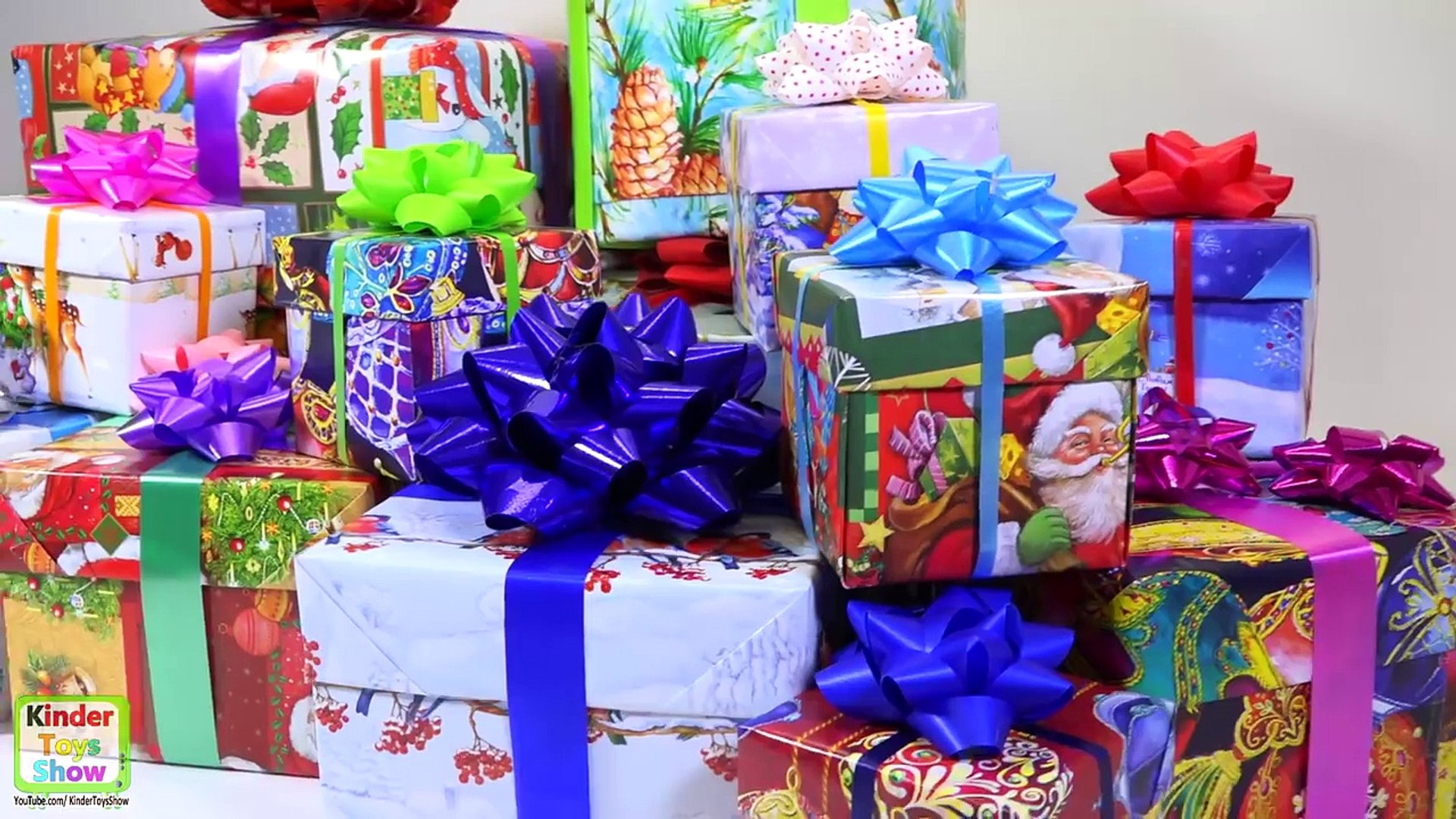 Christmas Surprise Presents for Kids, 14 Gifts unboxing, a lot of Kinder Surprise inside