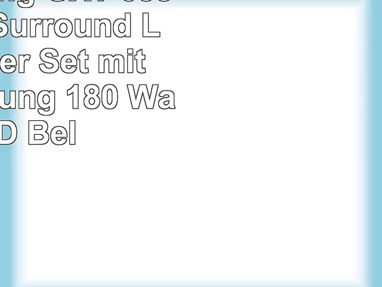 Trust Gaming GXT 658 Tytan 51 Surround Lautsprecher Set mit Fernbedienung 180 Watt LED