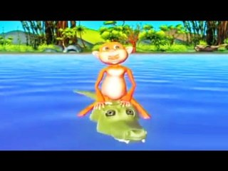 കുരങ്ങിൻറെയും മുതലയുടെയും കഥ   Malayalam Animation Cartoon Video Story For Kids   Malayalam Animated