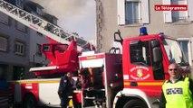 Quimper. Un jeune homme grièvement blessé dans un virulent incendie en centre-ville