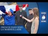 Italy v France - French Fans Sing Anthem