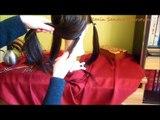 Long Layered Bob haircut with bangs | Long length layers haircut tutorial | Corte de cabelo feminino