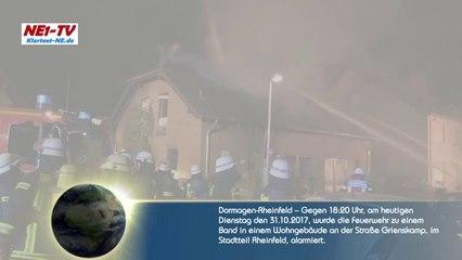 2017-10-31 - Dormagen: Feuerwehr Großeinsatz – Hausbrand in Rheinfeld