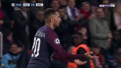 Layvin Kurzawa Hatrick Goal  5-0 Paris SG vs Anderlecht 31.10.2017