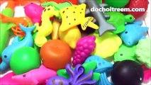 Đồ chơi câu cá bể phao bơi lớn, 50 loại cá: cá vàng, cá đuối, rùa, bạch tuộc. (Chim Xinh)