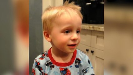Toddler Cuts His Hair To Look Like Dad