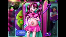 Pregnant Draculaura Bathroom Cleaning, Food Shopping, Washing Clothes / Monster High Baby Games