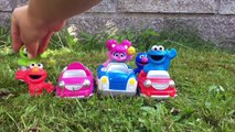 CAR WASH with SESEME STREET Toys and Disney Cars!-fw81YaZ1EUw