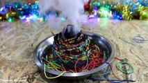 EXPERIMENT Glowing 1000 degree metal ball VS Rubber Band Ball-Vt23MvEnr2E