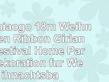 Miaomiaogo 18m Weihnachten Ribbon Girlande Festival Home Party Dekoration für