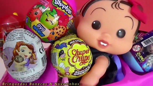 Turma da Mônica Toy Surpresas no Brinquedo Meu Carrinho Frozen Anna | Peppa Pig Em Português