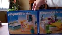 Playmobil ouverture des boites Salle de Bains avec Baignoire 5577 et Chambre avec Lit Rond 5583