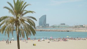 A Living Postcard from Barceloneta