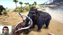 ARK Survival Evolved Mammoth VS Woolly rhino Batallas Dinosaurios arena gameplay español