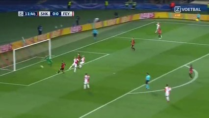 Nicolai Jorgensen Goal 0-1 Shakhtar Donetsk vs Feyenoord 01.11.2017