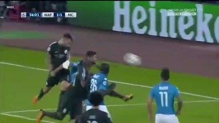 Nicolas Otamendi Goal 1-1 Napoli vs Manchester City 01.11.2017